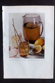 The Studio 1931 Vintage Art Deco Print. Lemonade by the Autotype Co.